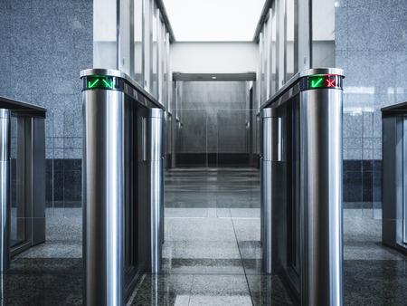 Foto de Entrance gate card Access Security system Office building - Imagen libre de derechos