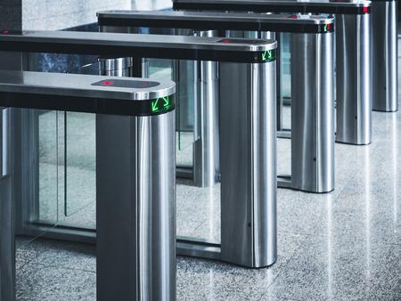 Photo pour Entrance gate card Access Security system - image libre de droit