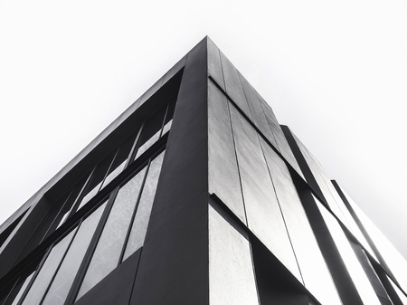 Photo for Architecture details Modern Facade building Black and White - Royalty Free Image
