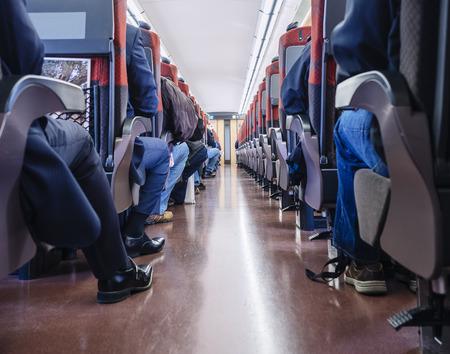 Foto de People sit in Train Japan Train interior Passenger seats - Imagen libre de derechos