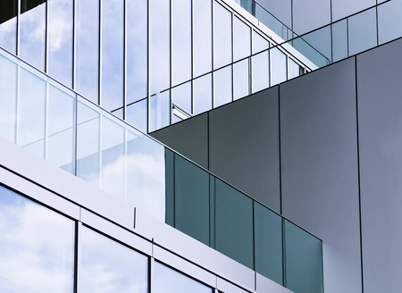 Foto de Architecture detail Glass wall Modern building exterior Abstract background - Imagen libre de derechos