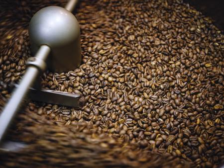 Foto de Coffee roaster process Coffee Beans Roasting machine - Imagen libre de derechos