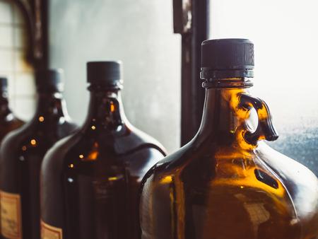Foto de Glass bottle Old Pharmacy medical vintage style object - Imagen libre de derechos