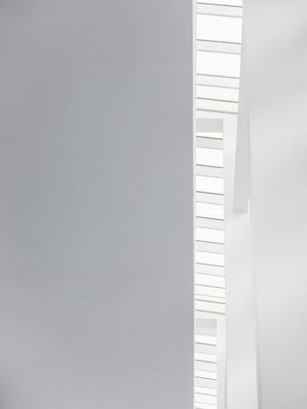 Foto de Architecture details Concrete White wall lighting Abstract background - Imagen libre de derechos