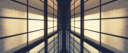 Foto de Wall Pattern details Architecture abstract perspective Japan traditional door - Imagen libre de derechos