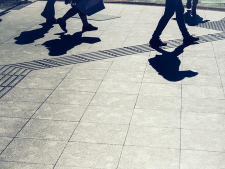 Photo pour People walking on street Urban city lifestyle Background - image libre de droit