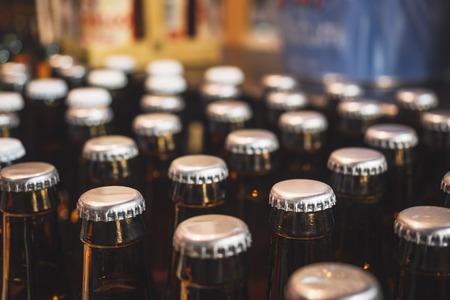 Foto de Bottle cap Beer Brewery package Drinking Bar Warehouse Storage Logistic - Imagen libre de derechos