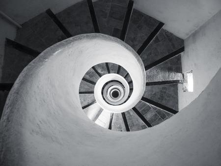Foto de Spiral staircase Cement texture Architecture detail Abstract background - Imagen libre de derechos