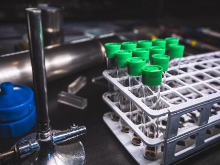Foto de Test Tube in rack Science laboratory equipment Research and development Medical Technology - Imagen libre de derechos