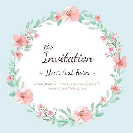 Photo pour Flower wedding invitation card, save the date card, greeting card - image libre de droit