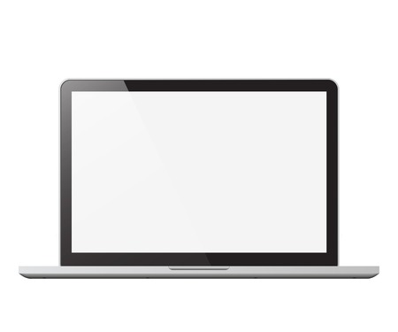 Illustration for laptop isolated vector illustration - Royalty Free Image