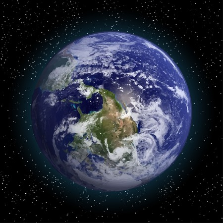 Earth in space vector.Elements of this vector furnished