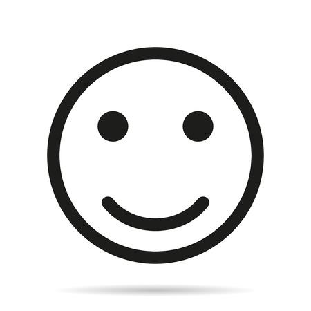 Illustration pour Smile icon flat - image libre de droit