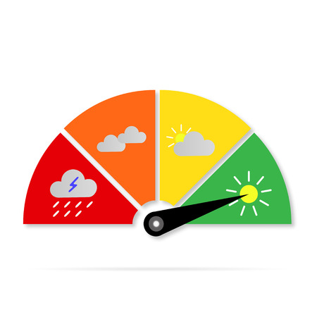 Illustration pour weather Icons sign gauge - image libre de droit