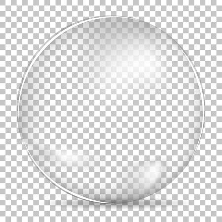 Illustration pour Transparent bubble bowl big - image libre de droit