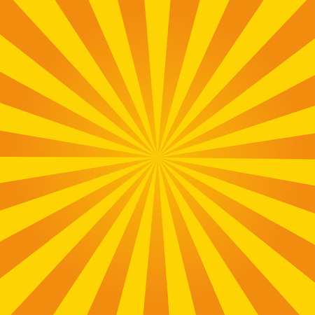 Illustration for Retro ray orange background in  vintage style - Royalty Free Image