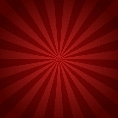 Illustration pour Red rays retro background with halftones  stylish - image libre de droit