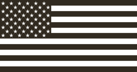 Illustration pour Flag american black and white in  flat design - image libre de droit