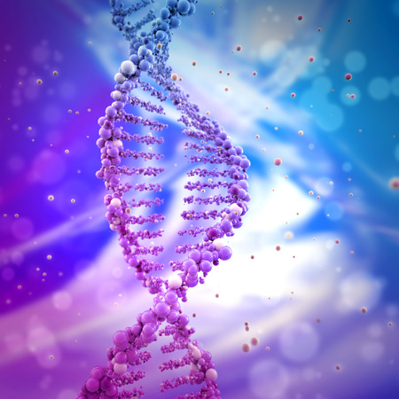 Photo pour dna double helix in abstract background - image libre de droit