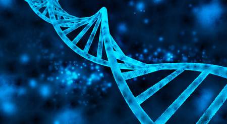 Foto de double helix of the DNA in blue background - Imagen libre de derechos