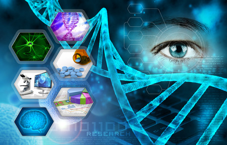 Photo pour medical science and scientific research abstract background - image libre de droit