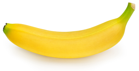 Photo pour one whole ripe banana isolated on white background - image libre de droit