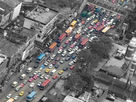 Foto de Traffic jam, Bangkok,Thailand,Asia, for pollution,traffic,city life themes - Imagen libre de derechos