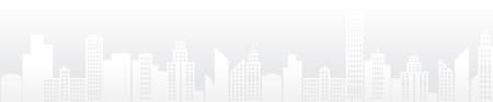 Illustration pour White texture. Vector silhouette of the modern city. Abstract city template. - image libre de droit