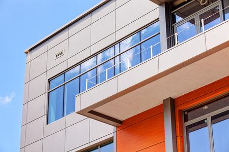 Photo pour details of aluminum facade and aluminum panels - image libre de droit