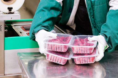 Foto de food packing and sorting industry equipment - Imagen libre de derechos
