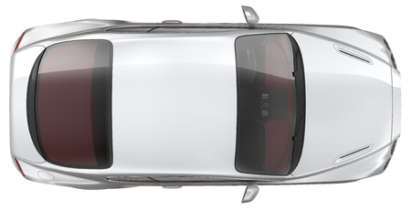 Photo for Luxury sports coupe car - Top view - Royalty Free Image