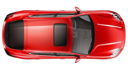 Foto de Red sports car - top view - Imagen libre de derechos