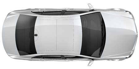 Photo for Silver car - top view - Royalty Free Image