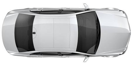 Foto de Silver car - top view - Imagen libre de derechos