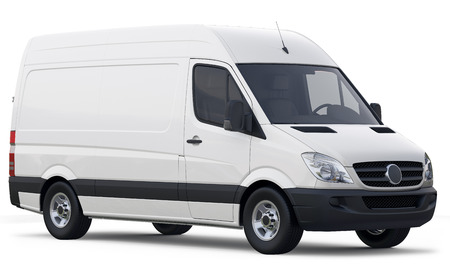 Photo for Compact white cargo van  - Royalty Free Image