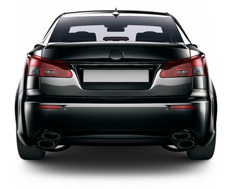 Photo pour Rear view of black sedan car - image libre de droit