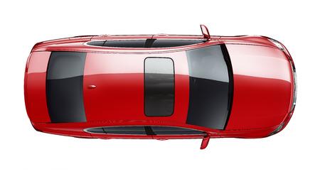 Foto de Isolated red car on white background - Imagen libre de derechos