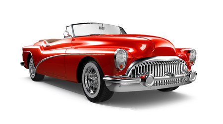 Photo for Red Classic Coupe Car - Royalty Free Image