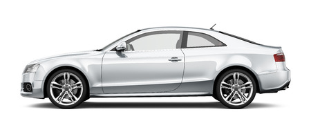 Photo for White coupe car on white background - Royalty Free Image
