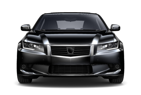 Photo for Black car - front view - Royalty Free Image