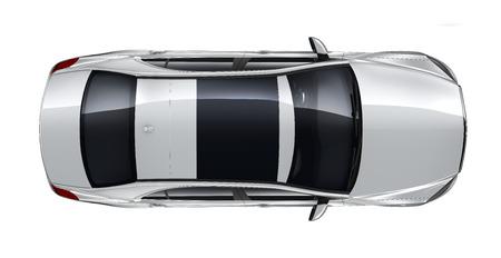 Photo pour Luxury car - top angle - image libre de droit