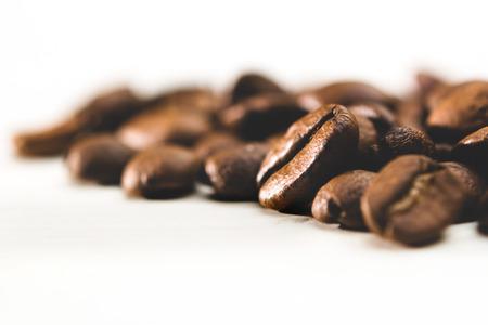 Foto de coffee beans on white background - Imagen libre de derechos
