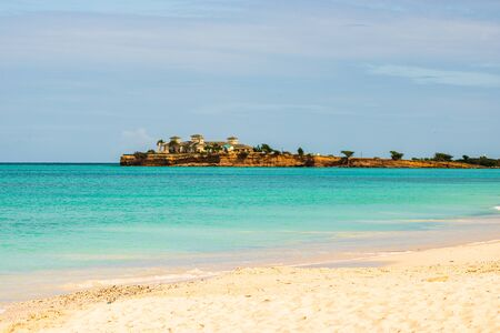 Photo for Idyllic beach in St. John's, Antigua and Barbuda, a country located in the West Indies in the Caribbean Sea. - Royalty Free Image