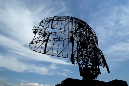 Foto de Modern radar is designed  and automatic tracking of targets and missiles - Imagen libre de derechos