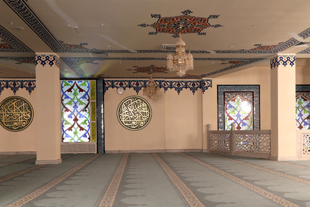 Foto de Moscow Cathedral Mosque (interior), Russia -- the main mosque in Moscow, new landmark - Imagen libre de derechos