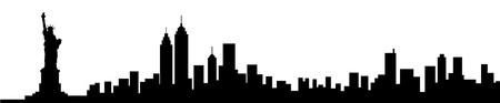 Illustration pour New York City Skyline Silhouette - image libre de droit