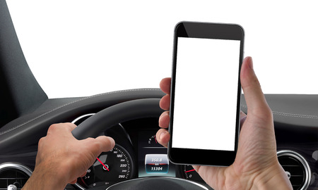 Photo for drive phone mockup isolated - Royalty Free Image