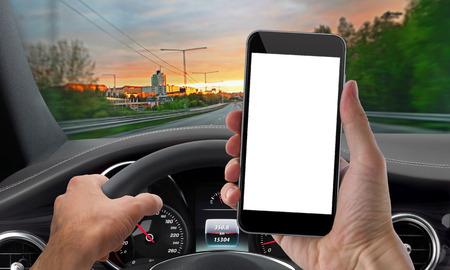 Photo pour drive phone mockup isolated - image libre de droit