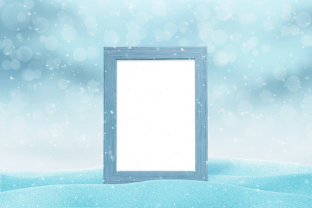 Photo pour Picture frame mockup for New Year greeting card. Isolated part of freme. - image libre de droit