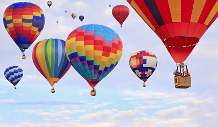Photo for Hot air balloons flying - Royalty Free Image